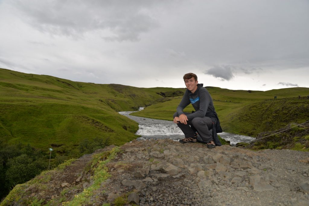 Our son's favorite part of the Iceland trip was the hiking above the Skogafoss waterfall