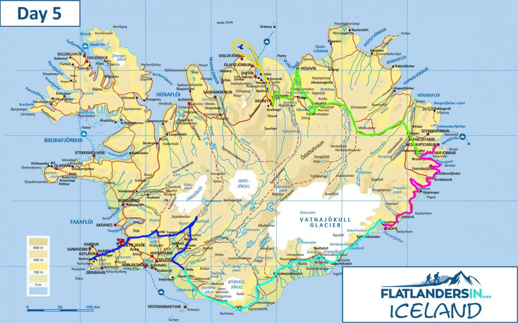 Flatlanders In - Day 5 Driving Route In Iceland