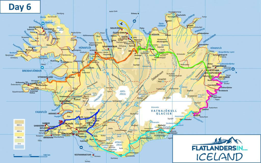 Flatlanders In - Day 6 Driving Route In Iceland