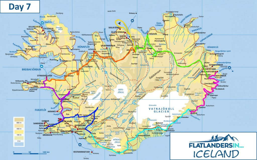 Flatlanders In - Day 7 Driving Route In Iceland