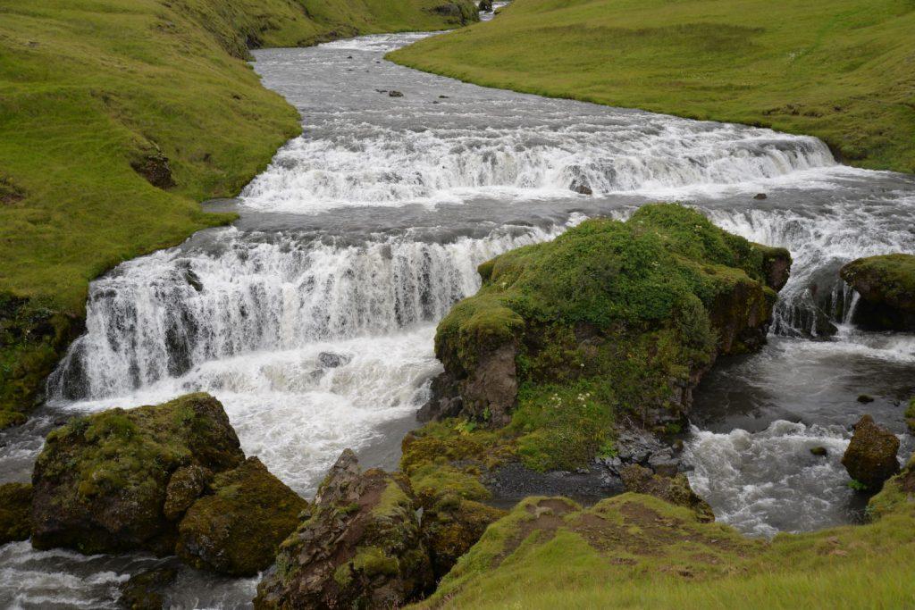 The upper falls above Skogafoss