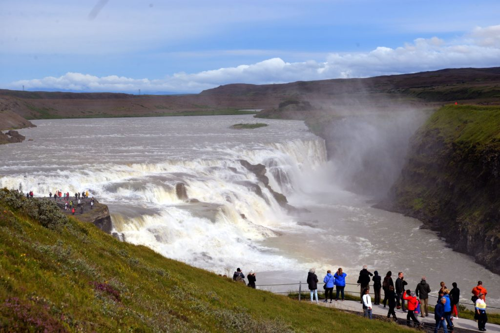 The Gulfoss waterfalls were one of the first attractions we saw in Iceland and did not disappoint