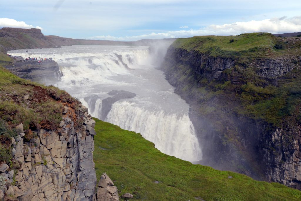 Gullfoss is an amazing first waterfall to experience in Iceland