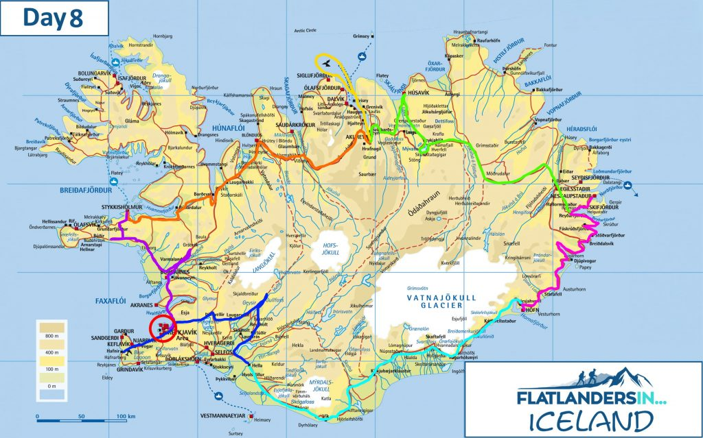 Flatlanders In - Day 8 Driving Route In Iceland