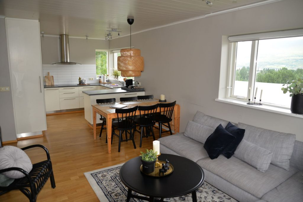 Our apartment in Akureyri was modern and spacious and gave us a chance to do some laundry
