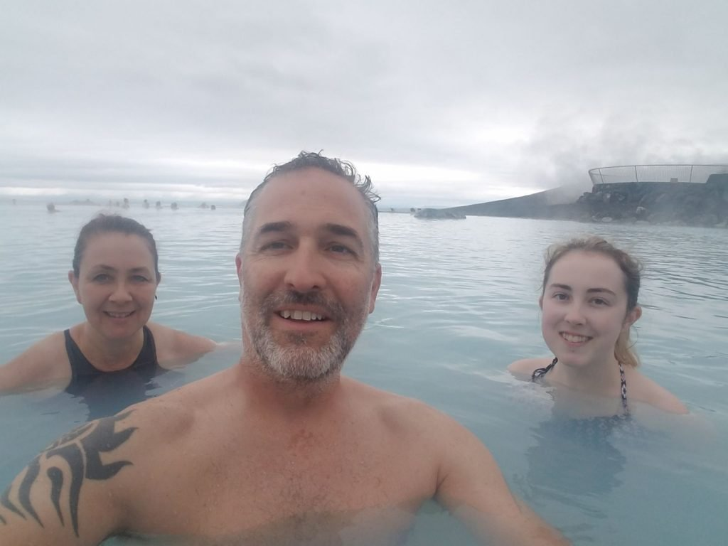 The mineral baths at Myvatn were a great break during the middle of our nine day Iceland trip
