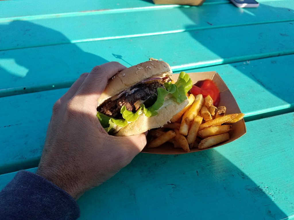 We found a great burger in Stykkisholmur at the Fancy Sheep food truck