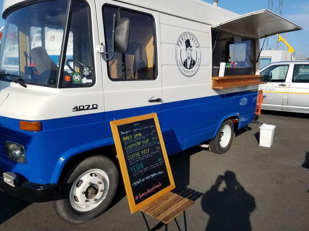 Fancy Sheep Food Truck In Stykkisholmur Iceland