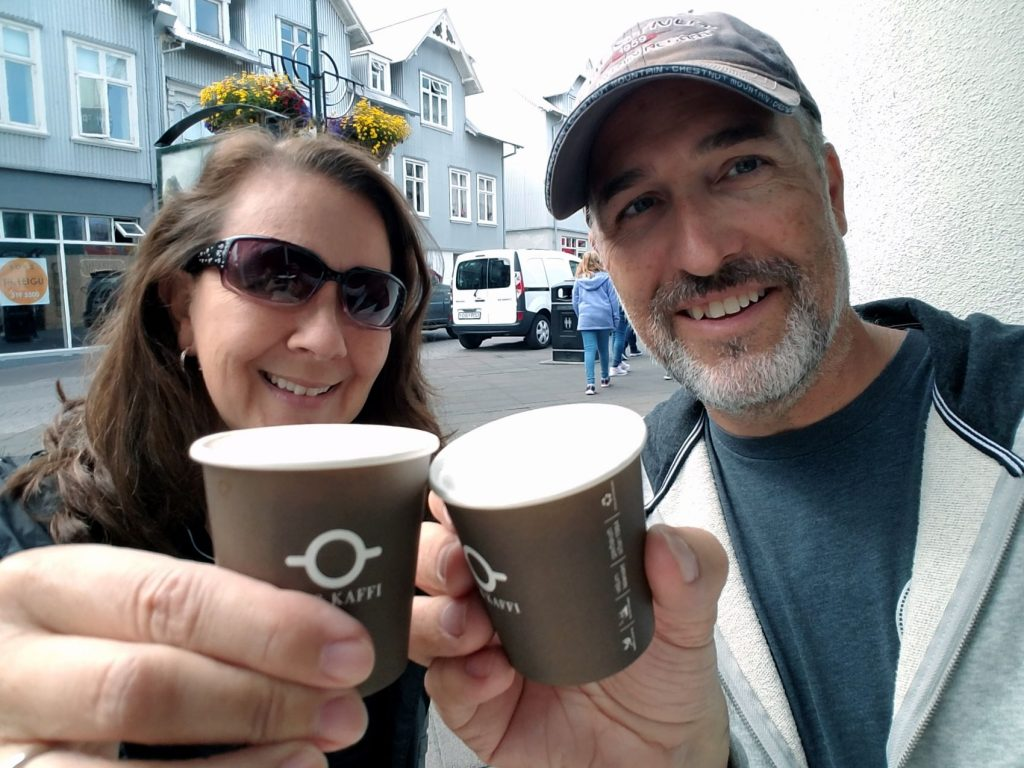 A quick coffee in downtown Reykjavik gave us the energy we needed for our shopping and walking adventure