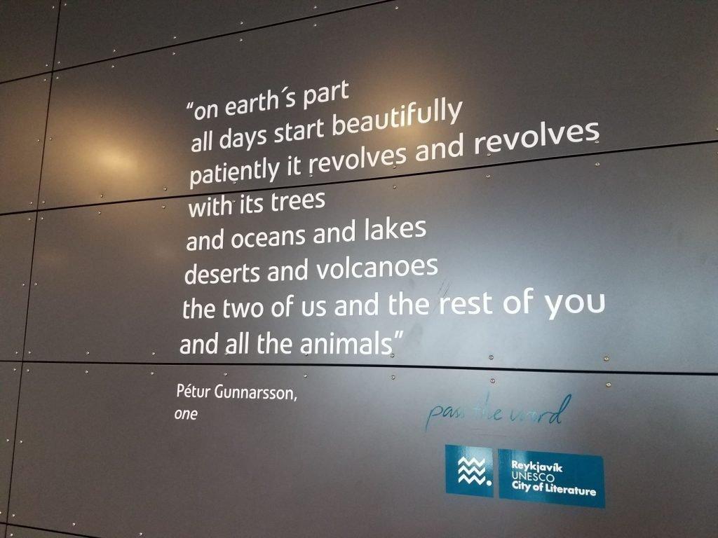 Flatlanders In Iceland - Beautiful quote found in Keflavik Airport